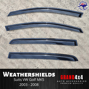 Weathershields Window Visors for Volkswagen Golf MK5 2003-2008 VW