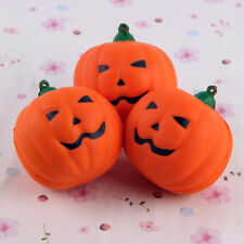 Halloween Squishy Pumpkin Slow Rising Soft Squeeze Toy Strap Anti Stress Gifts