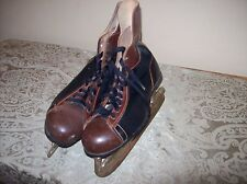 Vintage Leather Hockey Skates N.H.L Rules Committee Officially Approved