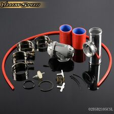 """Blow Off Valve BOV IV 4  +2.5"""" Flange Pipe  +Clamps kit red  Silicone Hose"""