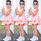 Princesa Vestido Rosa Para Niña Sin Mangas Traje Fiesta Formal