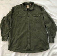 Red Head Bass Pro Shop 2XLT Button Down Flannel Long Sleeve Cotton Green Hunting