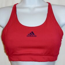 ADIDAS REVERSIBLE Racerback Three Stripes CESS Training SPORT BRA Pink Sz Small