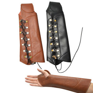 Archery Arm Guard Hand Glove Bracer Protector Gear Longbow Recurve Bow Shooting