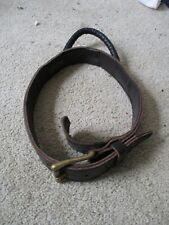 """Used Extra Durable 2 Ply Leather Dog Collar with Handle Mastiff Pitbull 27""""- 29"""""""