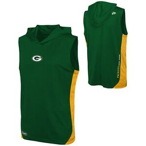 New Era NFL Men's Green Bay Packers Champions Flair Hooded Muscle Tee Shirt