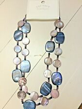 Fat Face Bead Disc Stone Long Necklace New with Tags BNWT Blue Purple Jewellery