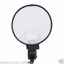 Bessel - 30cm Round Flashgun Diffuser Collapsible Twist-fold With Bag