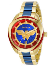 Invicta DC Comics Wonder Woman Ladies 38mm Limited Edition Gold Watch 31730