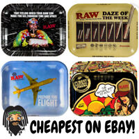 RAW Small Medium & Large Metal Collectors Rolling Trays - All Designs & Sizes