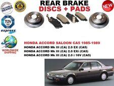 FOR HONDA ACCORD MK III 3 BERLINA CA5 85-89 REAR BRAKE DISCS SET + PADS KIT