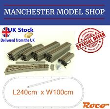 SPECIAL OFFER Roco HO 1:87 Large Rocoline track oval & siding NEW - MSRP £147.57