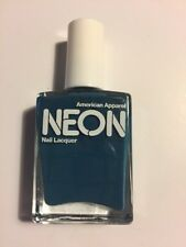 American Apparel Neon Nail Lacquer Neon Blue Teal Discontinued HTF Polish Color