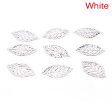 50/100X Charm Filigree Hollow Leaves Pendant Jewelry Making Leaf Metal Craft RGS