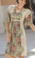 Plus 3X Paisley Print Thin Stretch Knit Monroe and Main Moroccan Casual Dress