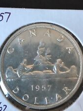 1957  1 WL, Canadian Silver Dollar **MS-62