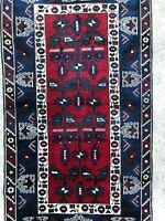 4 X 7 VINTAGE HANDMADE WOOL TURKISH AUTHENTIC BEAUTIFUL DESIGN DECORATIVE RUG
