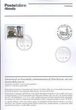 ITALIE 2006 DINO BUZZATI BULLETIN COMPLET DE TIMBRES FDC