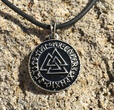 Valknut - Kettenanhänger in Silber (Wotansknoten,Walknut,Odin,Wotan,Thor)