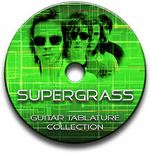 SUPERGRASS ALTERNATIVE INDIE BRITPOP ROCK GUITAR TABS TABLATURE SONG SOFTWARE CD