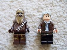 LEGO Star Wars Force Awakens - Original Old Han Solo & Chewbacca Minifigs - New