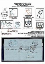 CHILE (BPO) TO FRANCE STAMPLESS FOLDED LETTER 1862 VALPARAISO - PARIS VIA GB