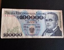 billet de Pologne 100 000 Zlotych