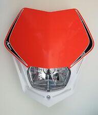 Mascherina Faro Anteriore Rtech Headlight V-FACE Bianco - Arancio KTM Universale