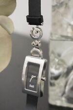 D&G DOLCE & GABBANA edle Armbanduhr schw.-silber Uhr