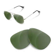 Polarized Replacement Lenses for Rayban 3025 aviator 58 size green g15 color