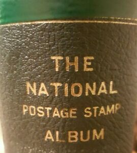 VINTAGE 1975 SCOTT NATIONAL POSTAGE STAMP ALBUM LARGE BINDER MODIFIED WITH TABS