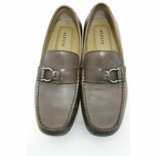 Alfani Mixer Mens Size 10.5M Brown Leather Slip On Driving Moccasin Loafers Shoe