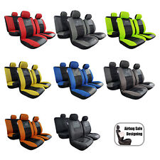GT Racing Embroidered Leatherette Carbon Mesh Seat Covers For Mitsubishi Triton