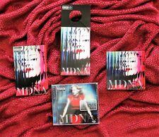 MADONNA MDNA PROMO ALBUM RELEASE  LOT GOLD STAMP CD DOOR HANG  STICKERS POSTCARD