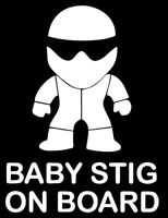 Baby stig, Bebe a bordo on board, pegatina aufkleber vinilo, vinyl, 18 colours