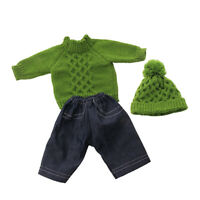 18inch American Doll Winter Clothing - Casual Sweater Top & Jeans Beanie Hat