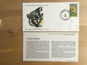 IVORY COAST COTE D'IVOIRE 1979 FDC WWF COLOBUS MONKEY