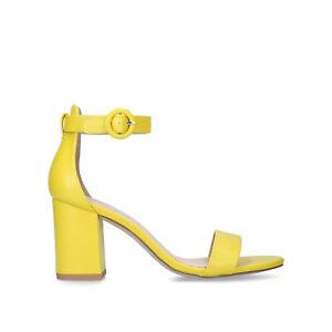 Kurt Geiger Miss KG Giselle Yellow Block Heel Shoes Sandals Size UK 5 EU 38