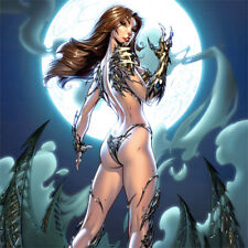 """WITCHBLADE Signed ART PRINT J Scott Campbell 19 x 13"""" Nei Ruffino NEW #135 Cover"""