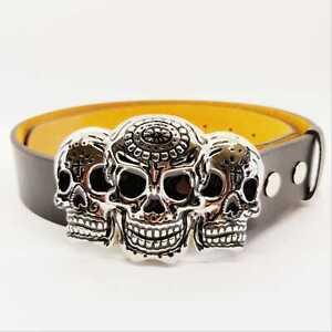Day of the Dead Belt & Buckle Candy Skull dia de Muertos halloween Biker