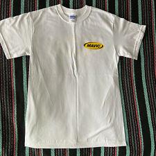 Mavic Team Cycling Tee Shirt Cotton T-Shirt White Small New