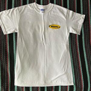 MAVIC Team Cycling Tee Shirt Cotton T-Shirt WHITE MEDIUM New