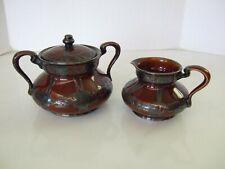 Antique Lenox China Sterling Silver Overlay Creamer & Sugar Bowl