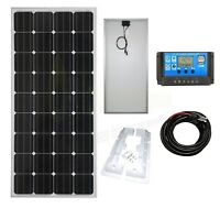 150w Mono Solar Panel K2 Battery Charging Kit Controller Mounting Bracket Set K2