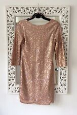Topshop Rose Gold Holographic Sequin Mini Dress, UK Size 10, Immaculate