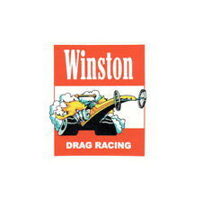 WINSTON DRAG RACING SPONSORSHIP NHRA RACE HOT RAT ROD DECAL VINTAGE LOOK STICKER
