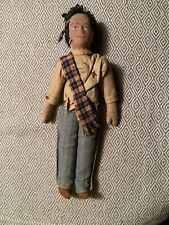 Vintage Girl Scout Doll Homemade Mid Century Rustic