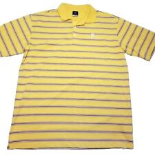 NIKE Mens XL Golf Polo Shirt Dri Fit Yellow The Diplomat Embroidered Crest Logo