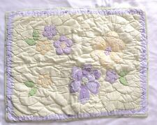 Pottery Barn Kids Standard Pillow Sham Mint Green Lavender Quilted Floral