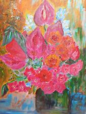 Original Oil Painting on canvas - TROPICAL FLOWERS